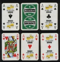 Vintage Advertising playing cards Heineken beer,